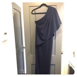 Zac Posen navy long gown